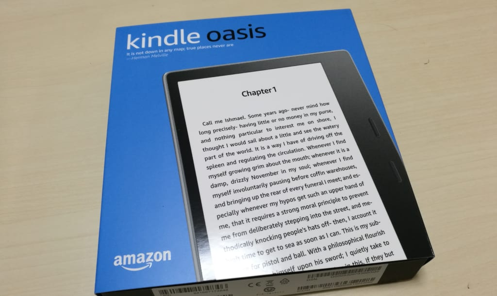 Kindle oasis 第9世代 2017 を購入したのでレビュー1